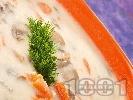 Рецепта Гъбена чорба с моркови и сметана